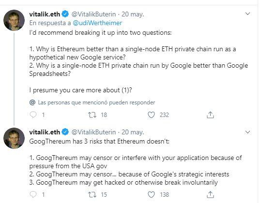 Lee más sobre el artículo GoogThereum y AmazThereum: ¿el futuro de Google y Amazon pasa por Ethereum?