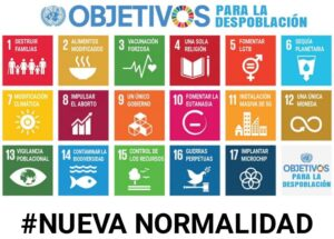 Los 17 objetivos del milenio hacia la nueva anormalidad. Hacia la despoblación pero organizados eso si.