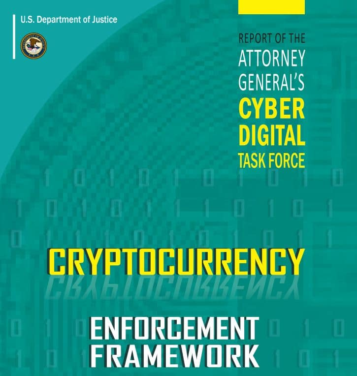 CRYPTOCURRENCY ENFORCEMENT FRAMEWORK: el marco de acción legal para Bitcoin en USA.