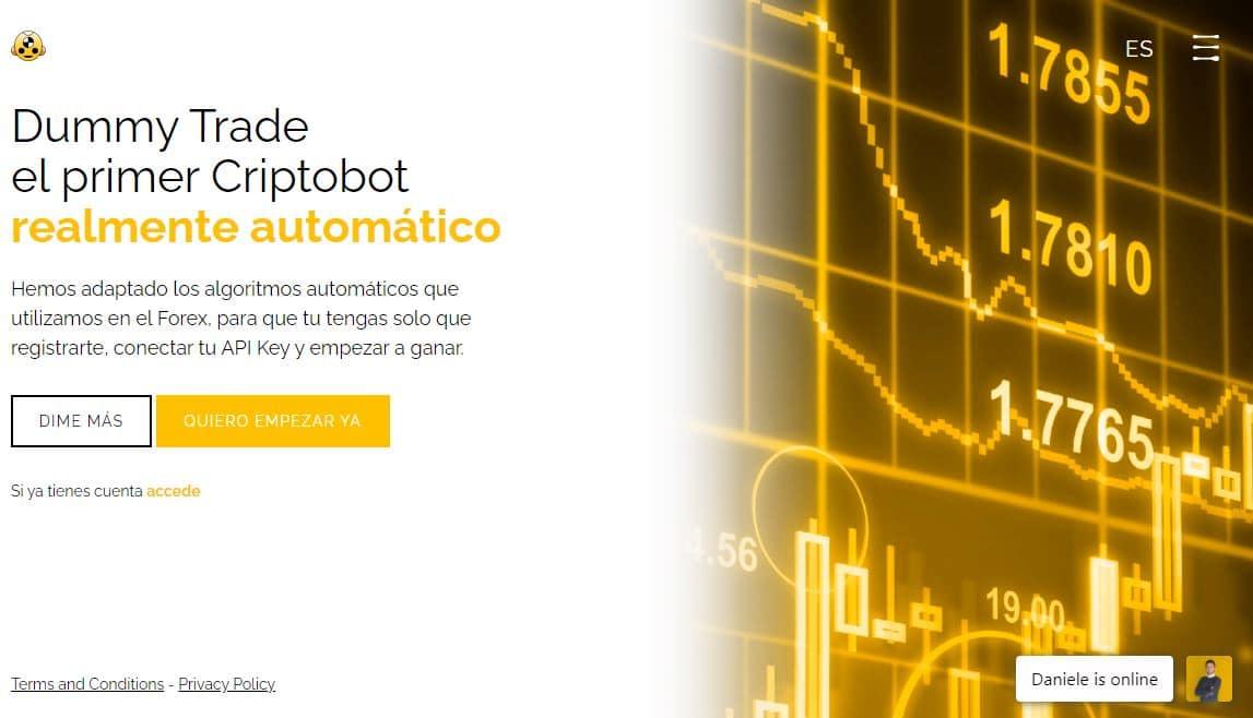 Dummy Trade: la FINTECH Española de algoritmos de inversión automatizados para acumular BITCOIN.