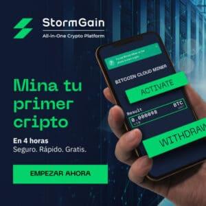 Lee más sobre el artículo StormGain registrate en 5 segundos y recibe tu bono de bienvenida 25 usdt
