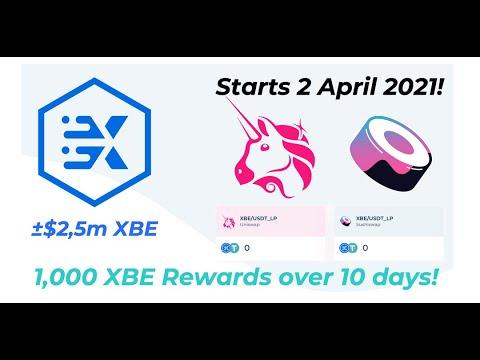 Participamos en la eurxb.finance XBE token liquidity reward desde UNISWAP y SUSHISWAP