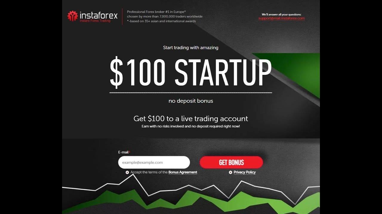 Forex Broker InstaForex con bono de 100$ y trading con 11 criptomonedas