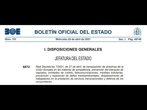 Real Decreto ley para la transposición de la 5ª Directiva de Prevención de Blanqueo de Capitales AML