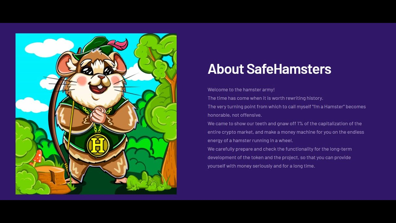 Lee más sobre el artículo Welcome to the SafeHamsters army: Let's take 1% of the capitalization of the cryptocurrency market